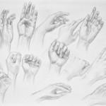 Rysunkowe studium dłoni