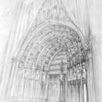 portal gotycki - rysunek architektury