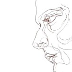 Twarz - rysunek linearny