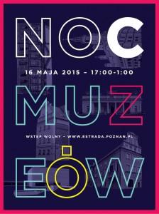Plakat Noc Muzeów 2015