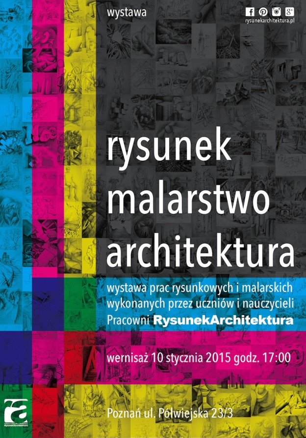Zaproszenie na wystawę RYSUNEK MALARSTWO ARCHITEKTURA