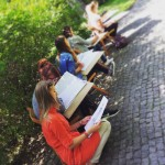 Kurs rysunkowy podczas pleneru w Poznaniu