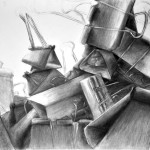 klipsy_praca wykonana podczas kursu rysunku