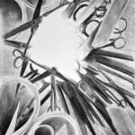 nożyczki_praca wykonana podczas kuru rysunku