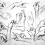 ręce_praca wykonana podczas kuru rysunku