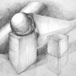 bryły_praca wykonana podczas kuru rysunku