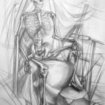 szkielet_praca wykonana podczas kursu rysunku
