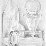 bryły_praca wykonana podczas kursu rysunku