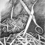 nożyczki_praca wykonana podczas kursu rysunku