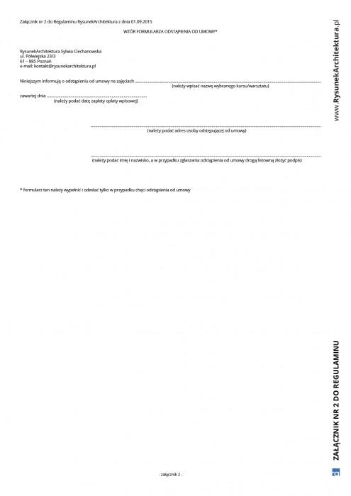 Załącznik 2 do Regulaminu RA