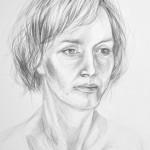portret - praca wykonana przez uczestnika Rocznego Kursu Rysunku