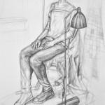 studium postaci - praca wykonana przez uczestnika Rocznego Kursu Rysunku