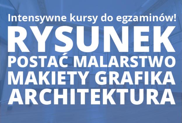 Intensywny Kurs Rysunku i Malarstwa 16-29 czerwca oraz Intensywny Kurs Budowy Makiet i Grafiki 25-29 maja w RA! Ostatni moment na dobre przygotowanie do egzaminu! :D